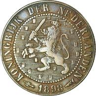 Monnaie, Pays-Bas, Wilhelmina I, 2-1/2 Cent, 1898, TTB, Bronze, KM:108.2 - 2.5 Cent