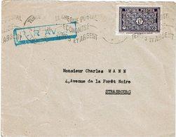 LCTN59/ALS/2B - TUNISIE LETTRE AVION TUNIS / STRASBOURG 4/1/1949 - Tunisia (1888-1955)