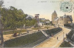Le Tréport - Le Square Et La Rue Alexandre Papin - Carte Colorisée N° 221 - Le Treport