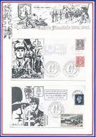 FRANCE - 2 ENVELOPPES GUERRE MONDIALE 1939-1945 PARIS 16/10/1980 35EME ANNIVERSAIRE DU RETOUR AMIENS LILLE - Guerre Mondiale (Seconde)