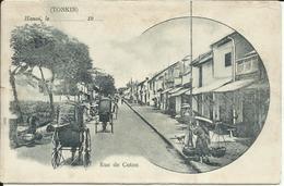 * TONKIN , Hanoï , Rue De Coton , CPA ANIMEE - Vietnam