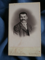 Photo CDV Rouchon à Rive De Gier  Portrait Homme Souriant  CA 1895 - L481D - Photos