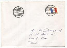FM DRAPEAU LETTRE COVER  PAQUEBOT PORT SAID 28 JA 1973 SUPERBE - Franchigia Militare (francobolli)