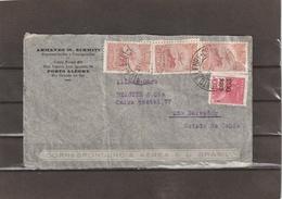 Brazil AIRMAIL COVER Porto Alegre-Sao Salvador 1933 - Luchtpost