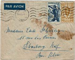 LCTN59/ALS/2B - CAMEROUN LETTRE AVION DOUALA / STRASBOURG 19/1/1948 - Cameroun (1915-1959)