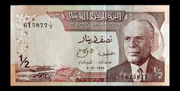 # # # Banknote Tunesien (Tunisia) ½ Dinar 1972 # # # - Tunesien