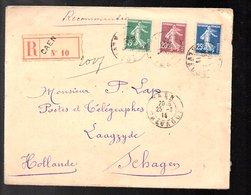 1914 R-Caen > P. Lap PTT Laagzijde Schagen Holland (999d) - Briefe U. Dokumente