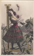 CPA  FEMME Artiste CHAVITA  ALPHABET Lettre L  Reutlinger - Donne
