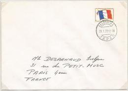 FM DRAPEAU LETTRE CACHET JAPONAIS KAGOSHIMA 29.1.1972 JAPAN - Militärpostmarken