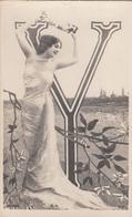 CPA  FEMME Artiste   ALPHABET Lettre Y  Reutlinger - Women