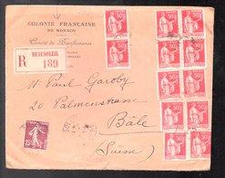 Colonie Francaise De MONACO Beausoleil > Suisse Bâle Paul Garoby (999g) - Monaco
