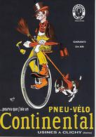 CP - Publicité - Pneu-Vélo - CONTINENTAL (Chien) - L'artiste -MICH. - Reclame