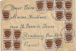 LCTN59/ALS/2B - ZOF LETTRE A DESTINATION DE STRASBOURG - Zone Française