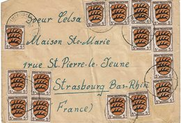 LCTN59/ALS/2B - ZOF LETTRE A DESTINATION DE STRASBOURG - French Zone