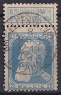 "132-  COB/OBP 76 (o)    "" BRUXELLES(R.DUCALE°DEPART"" +2 - 1905 Breiter Bart"