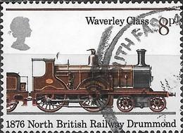 GREAT BRITAIN 1975 150th Anniversary Of Public Railways - 8p - Abbotsford, 1876 FU - 1952-.... (Elisabetta II)