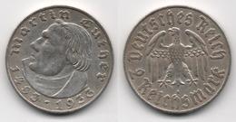 + ALLEMAGNE    + 2 MARK 1933 A   + MARTIN LUTHER + - 2 Reichsmark
