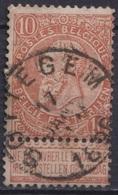 """137-  COB/OBP 57 (o)    """"SOTTEGHEM"""" +4 - 1893-1900 Schmaler Bart"""