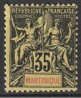 Martinique N° 48 MH Type Sage  (F3) - Martinique (1886-1947)