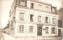 78 - VERSAILLES - Carte-photo VILLA St JEAN, Au N° 39 - (PENSION De FAMILLE) - Publicité Sur Mur : Mercerie V. LE COMTE - Versailles