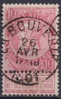 "142-  COB/OBP 58 (o) ""LA BOUVERIE"" +10 - 1893-1900 Schmaler Bart"