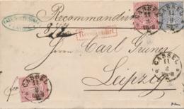 Norddeutscher Bund / NDP - 1869 - 2x1 Gr & 2 Gr On Folded R-cover From Cassel To Leipzig - Recomandirt - Norddeutscher Postbezirk