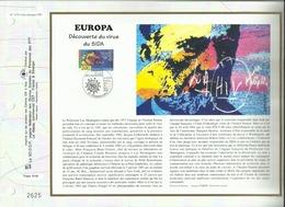 N° 1170A DU CATALOGUE CEF . EUROPA . DECOUVERTE DU VIRUS DU SIDA . 30 AVRIL 1994 . STRASBOURG . - FDC