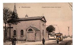 DUNKERQUE LA CHAPELLE N. D. DES DUNES OMNIBUS CARTE COULEUR ANIMEE - Dunkerque