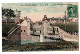 DUNKERQUE POSTE DE ROSENDAEL OMNIBUS CARTE COULEUR ANIMEE - Dunkerque