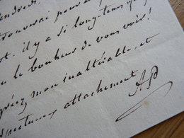 Alexandre PIEYRE (1752-1830) Dramaturge. AUTOGRAPHE à La COMTESSE DE GENLIS. Précepteur DUC De CHARTRES - Autographes