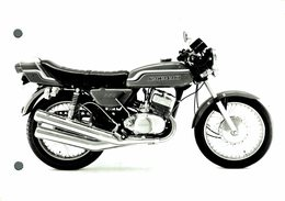 "Kawasaki 350 +-17cm X 12cm "" Perforada "" Moto MOTOCROSS MOTORCYCLE Douglas J Jackson Archive Of Motorcycles - Altri"