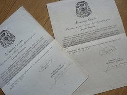 Jean Maximilien MENJOULET (1804-1882) Vicaire General BAYONNE. 2 X Autographe - Handtekening