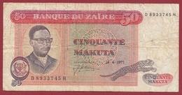 Zaïre 50 Makuta Du 24/06/1977 Dans L 'état (235) - Zaïre