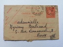Carte  Lettre France Paris Oblitérée 1930 - Storia Postale