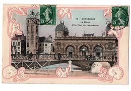 DUNKERQUE LE MINCK ET LA TOUR LEUGHENAER CARTE COULEUR ANIMEE - Dunkerque