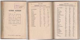 Guide Aérien   Aérodromes De Belgique    1933 - Avión