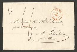 Belgique - LSC De Liège à St Ghislain Du 19/10/1848 - 1830-1849 (Belgique Indépendante)
