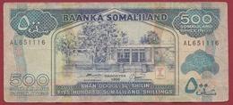 Somalie  500 Shillings 1996 Dans L 'état (240) - Somalie