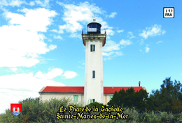 Set 6 Cartes Postales, Phares, Lighthouses Of Europe, France, Saintes-Maries-de-la-Mer, Le Phare De La Gacholle - Leuchttürme