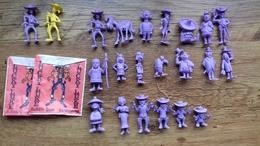 Série Complète De 20figurines Lucky-Luke 1970 +2 Luky +2 Pochettes - Miniature
