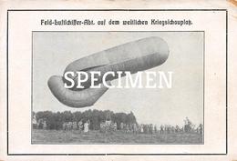 Feld Luftschiffert-Abt Auf Dem Weitlichen Kriegsichauplak - Montgolfières