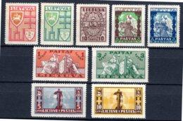 LITAUEN, 1932 Freimarken Teilsatz, Ungestempelt* - Lituanie