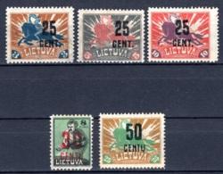 LITAUEN, 1922 Freimarken Mit Aufdruck, Teilsatz, Ungebraucht* - Lituanie