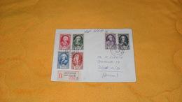 ENVELOPPE DE 1957.../ R ROQUEBRUNE CAP MARTIN FRANCE POUR ZURICH SUISSE...CACHETS + TIMBRES X 6 - Marcophilie (Lettres)