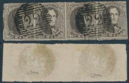 Médaillon Bande De 4 – Oblitération 22 Braine-le-Comte - 1858-1862 Médaillons (9/12)