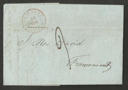 Belgique - LAC De Stavelot Du 30/09/1847 Vers Francomont - 1830-1849 (Belgique Indépendante)