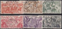 Océanie 1931-1956 - Poste Aérienne N° 20 à 25 (YT) N° 20 à 25 (AM) Oblitérés. - Océanie (Établissement De L') (1892-1958)