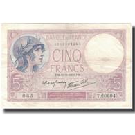 France, 5 Francs, Violet, 1939-08-10, TTB, Fayette:4.5, KM:83 - 1871-1952 Anciens Francs Circulés Au XXème