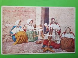Cartolina - Costumi Sardi - Bono - L'Arcolaio -  1930 Ca. - Sassari