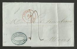 Belgique - LSC De Anvers à Mons Du 18/08/1846 - 1830-1849 (Belgique Indépendante)